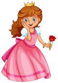A happy little princess — Stock Vector