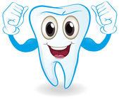 A strong tooth — Stock Vector