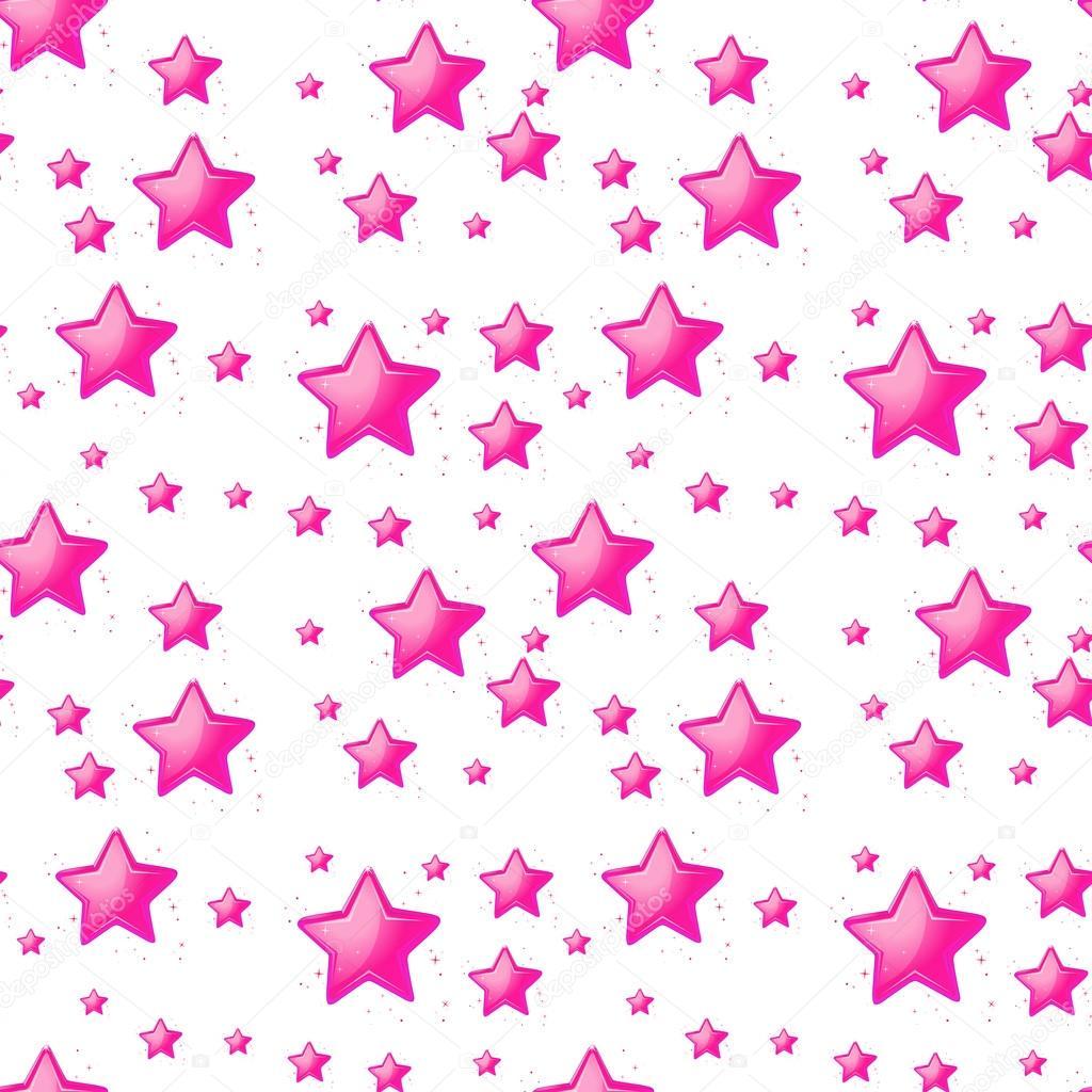 Dise o sin costuras con estrellas de color rosa vector for Disenos de estrellas