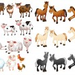 Farm animals — Stock Vector #53282051