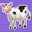Cow on a white background — Stock Vector #53282133