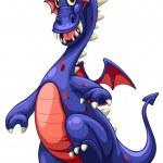 Blue dragon — Stock Vector #53282845