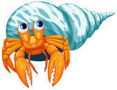 Hermit crab — Stock Vector