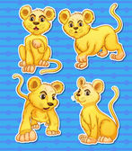 Lion set — Stock Vector