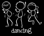 Dancing — Stock Vector