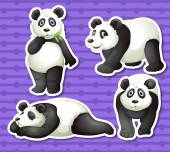 Panda set — Stock Vector