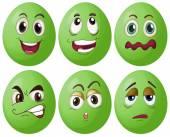Zielone jajka — Wektor stockowy