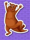 Otter — Stock Vector