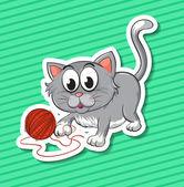 Kitten — Stock Vector