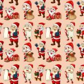 Seamless santa clause — Stock Vector