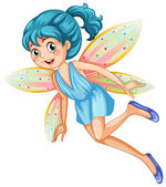 Blue fairy — Stock Vector