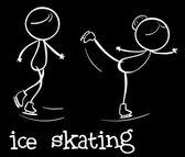 Ice skating — Stock Vector