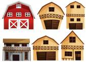 Barns set — Stock Vector