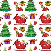 Seamless christmas wrapping — Stock Vector