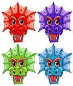 Dragon heads — Stock Vector