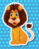 Lion Illustration — Stock Vector