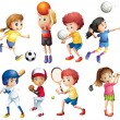 Children and sports — Stock Vector #54091653
