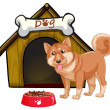 Dog and house — Stock Vector #54091731