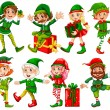 Elf and presents — Stock Vector #54092675