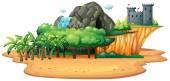 Island Illustration — Stock Vector