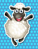 Sheep Illustration — Stock Vector