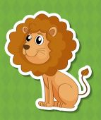 Lion Illustration — Stock Vector