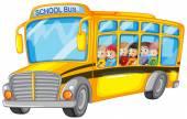 Children and school bus — Stock Vector