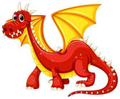 Dragon Illustration — Stock Vector