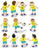 Football team — Wektor stockowy