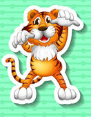 Tiger Illustration — Stock Vector