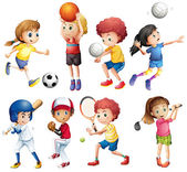 Children and sports — Stock Vector