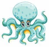 Octopus Illustration — Stock Vector