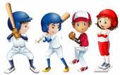 Equipo de béisbol — Vector de stock