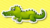 Crocodile Illustration — Stock Vector