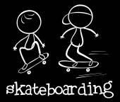 Ilustración skateboarding — Vector de stock