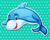 Dolphin Illustration — Stock Vector
