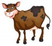 Ilustración de vaca — Vector de stock