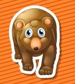 Bear Illustration — Stock Vector