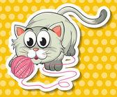 Kitten Illustration — Stock Vector