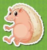 Hedgehog Illustration — Stock Vector