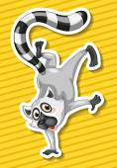 Lemur Illustration — Stock Vector