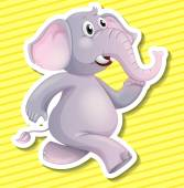 Elephant Illustration — Stock Vector
