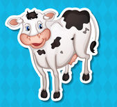 Cow Illustration — Stock Vector