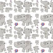 Seamless elephant Illustration — Stock Vector