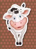 Una vaca — Vector de stock