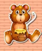 αρκούδα και μέλι — Διανυσματικό Αρχείο