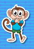обезьяна — Cтоковый вектор
