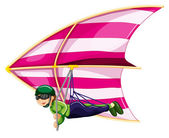 Hang glider — Stock Vector
