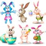 Rabbits — Stock Vector #56451185