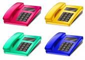 Telephones — Stock Vector